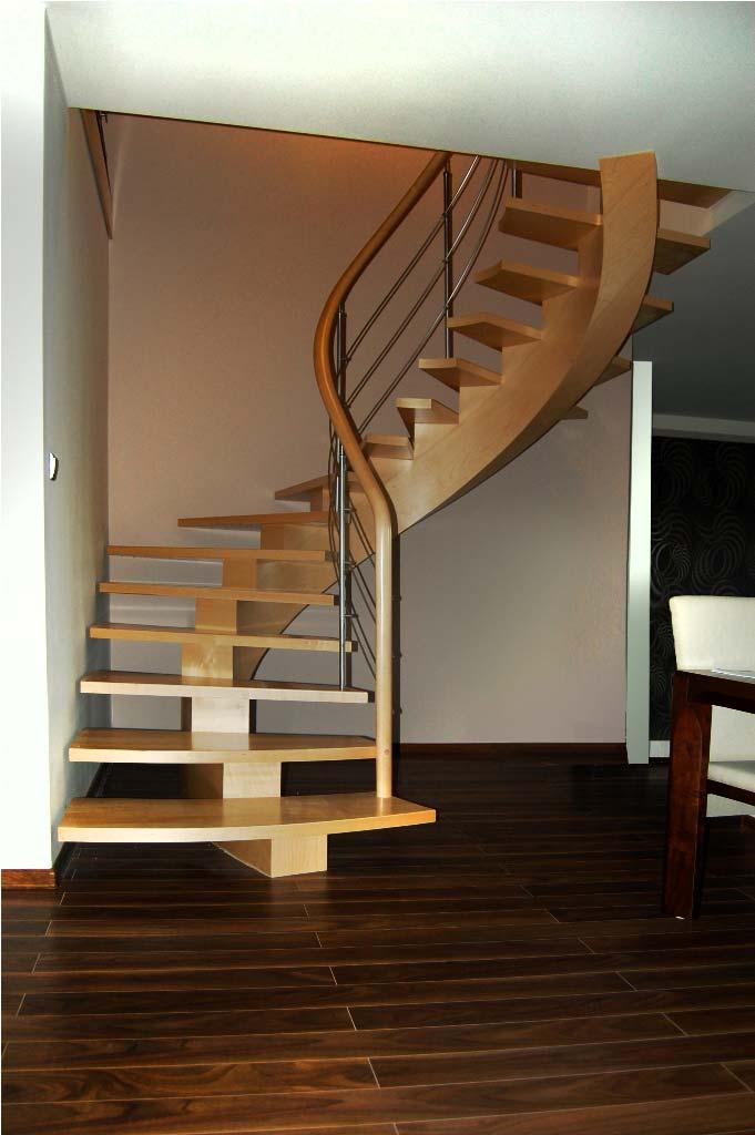 schody gięte drewniane 14