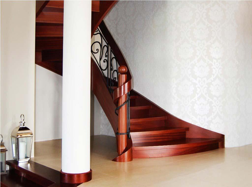 schody gięte drewniane 4