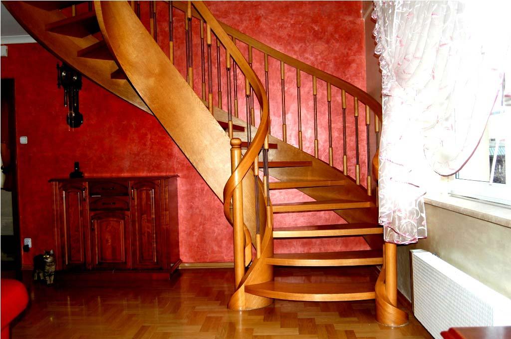 schody jedno zabiegowe odcień jasny