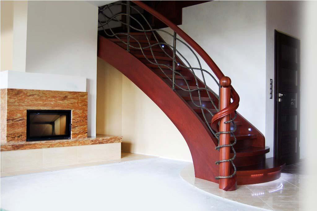 schody jednozabiegowe z drewna 4