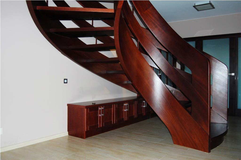 Schody drewniane kręcone wersja 17