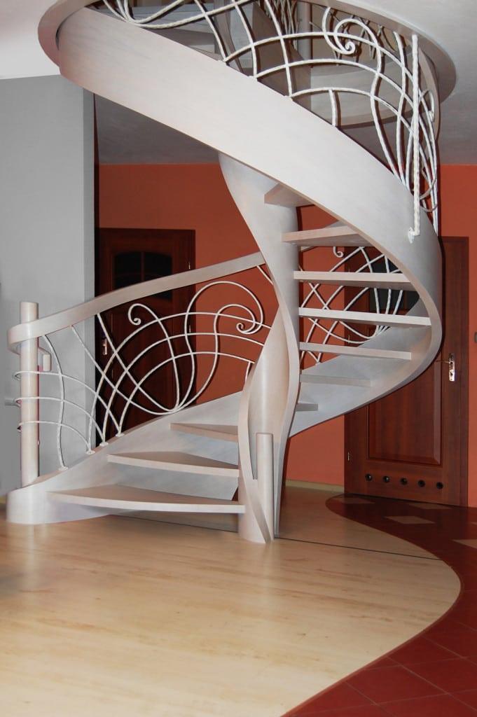 nowoczesne schody gięte 6