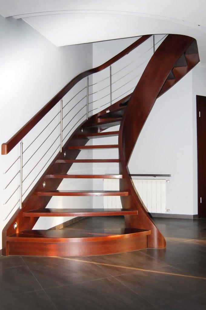 schody drewniane jednozabiegowe
