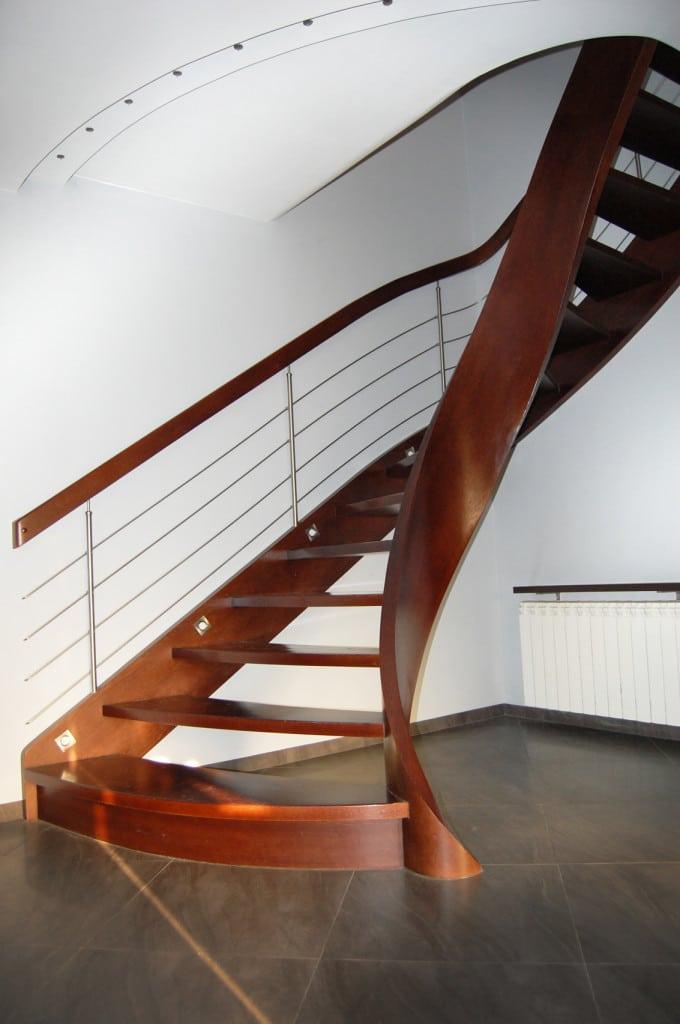 schody jednozabiegowe gięte