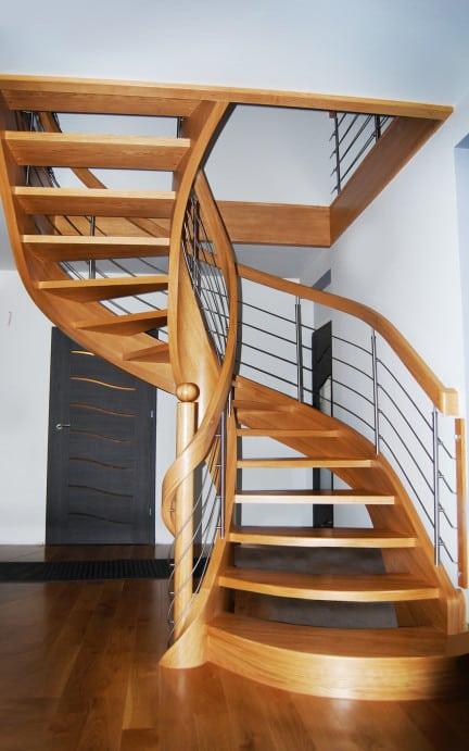 schody na policzkach giętych
