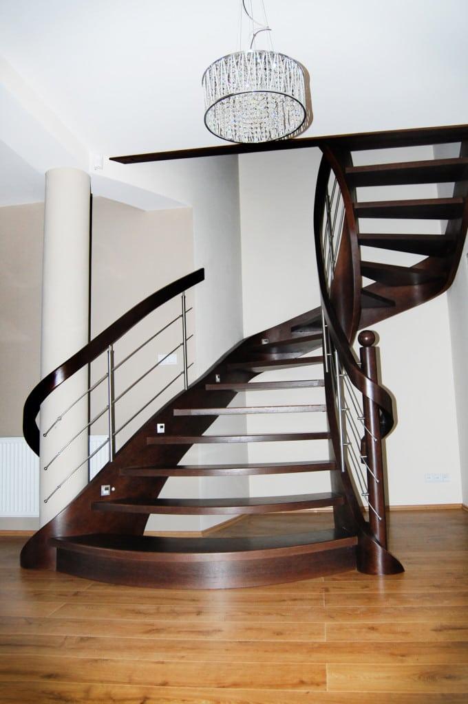 nowoczesne schody gięte 15