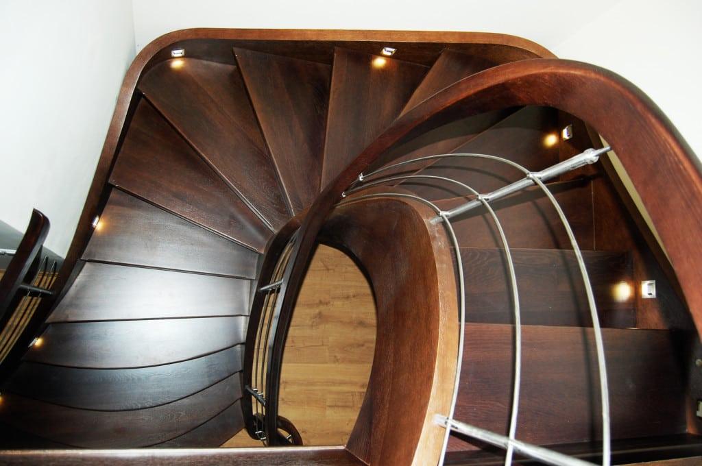 schody drewniane gięte 11