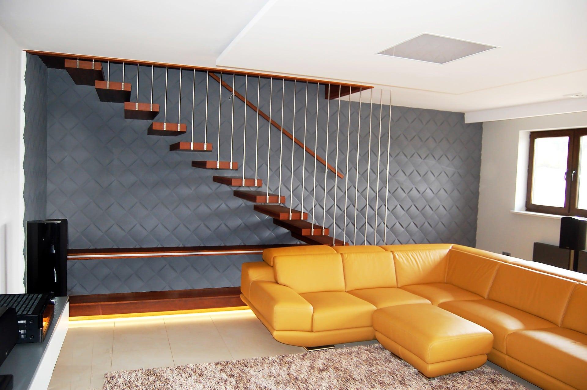 podwieszane ekskluzywne schody drewniane Prudlik