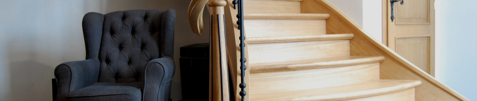 Schody drewniane styl belgijski Prudlik