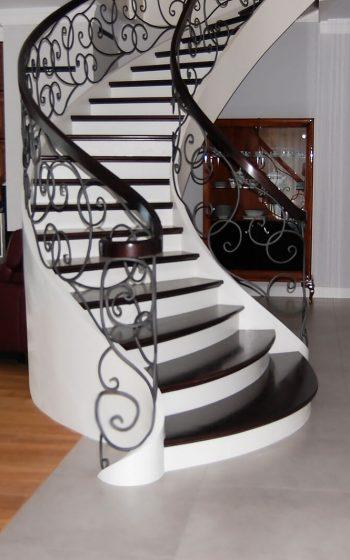 Drewno Jesion barwiony, schody jednozabiegowe