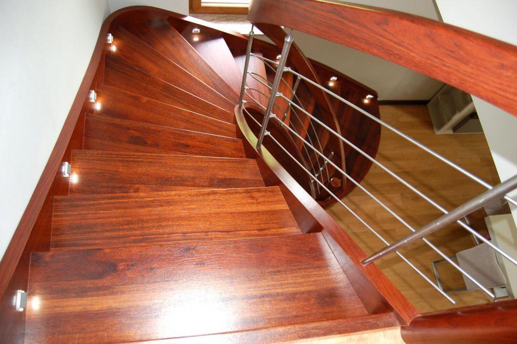 Drewno Merbau, schody ażurowe, jednozabiegowe